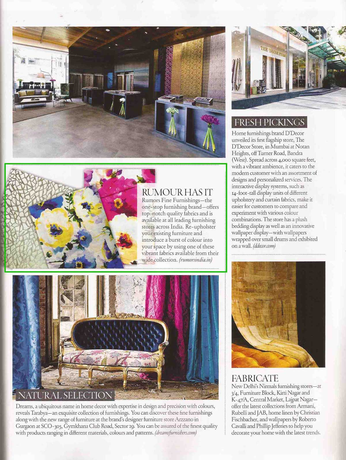 Rumors press Architectural Digest